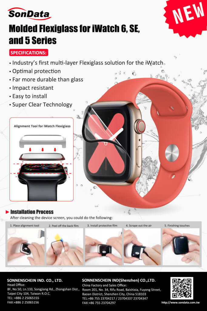 Molded Flexiglass for iWatch 6 SE and 5 Series